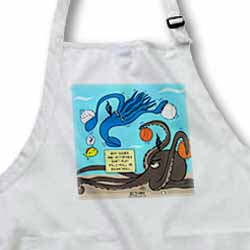 Why Squids and Octopuses Do Not Play Volleyball and Basketball Apron
