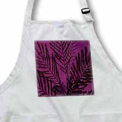 Mimosa Leaves Purplish Pink Background Apron