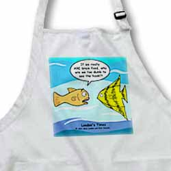 Are Fish Really Brain Food Apron