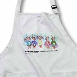 Kevin Edler Cartoon about Rudolphs Troubles for Christmas Apron