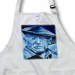 Blue Picasso - artist, blue, cubism, man, pablo picasso, picasso, signature Apron