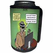 Invisible Man Internet Dating and Web Catfishing Can Cooler Bottle Wrap