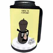 Funeral for a Cartoonist - Groucho Glasses on an Urn Can Cooler Bottle Wrap