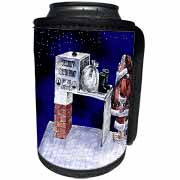 VAL - Santa Security Checkpoint Can Cooler Bottle Wrap