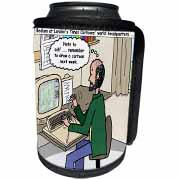 Pressures of Being a Cartoonist Can Cooler Bottle Wrap