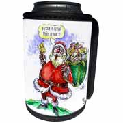 VAL Cartoon about Gift Card Giving for Christmas Can Cooler Bottle Wrap
