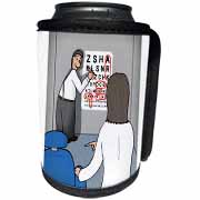 Eye Chart Word Search - Visit to the Eye Doctor Can Cooler Bottle Wrap