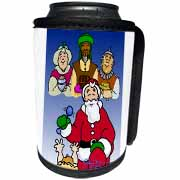 Larry Miller - Tribute to the Baby Jesus by the 3 Wisemen and Santa Can Cooler Bottle Wrap