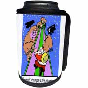 Ira Monroe - Santa Finds Some Buildings are Stirring More than a Mouse Can Cooler Bottle Wrap