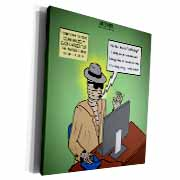 Invisible Man Internet Dating and Web Catfishing Museum Grade Canvas Wrap