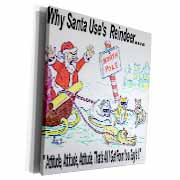 Kevin Edler, Why Santa Uses Reindeer  Museum Grade Canvas Wrap