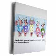 Kevin Edler Cartoon about Rudolphs Troubles for Christmas Museum Grade Canvas Wrap