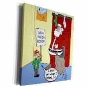 Dale Hunt - Santa Contributes to the Bad Economy Museum Grade Canvas Wrap