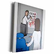 Eye Chart Word Search - Visit to the Eye Doctor Museum Grade Canvas Wrap