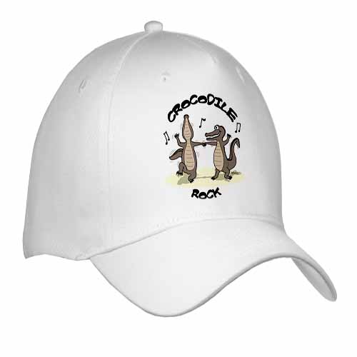 Out to Lunch Cartoon Crocodile Rock Cap