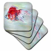 Fish Ryukin Goldfish Coaster