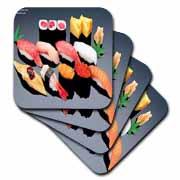 Various Sushi Dish Coaster