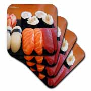 Tuna Salmon and Yellowtail Sushi Coaster