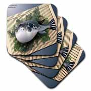 Fugu Puffer Fish Sushi Whole Coaster