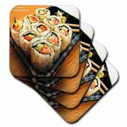 California Rolls Sushi Coaster