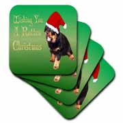 Photography Rottweiler Christmas Coaster