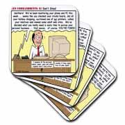 Ten Commandments 8 Dont Steal Coaster