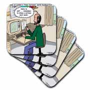 Pressures of Being a Cartoonist Coaster
