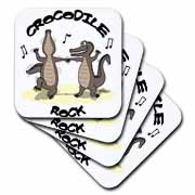 Out to Lunch Cartoon Crocodile Rock Coaster