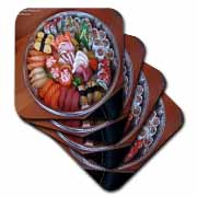 Sushi Sashami Tray Mix Fine Art Print Gifts Coaster