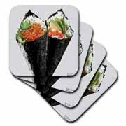 Temaki Sushi Print Gifts Coaster