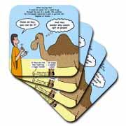 Mark 10-17-31 Stupid Animal Tricks - Camel through the Eye of a Needle Parable Coaster