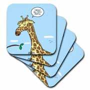Giraffe Foraging Foibles - wanting a truffle Coaster