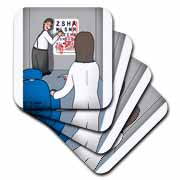Eye Chart Word Search - Visit to the Eye Doctor Coaster
