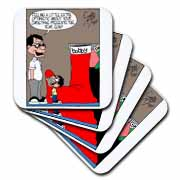 Sean Boley - Clever Child with very Large Christmas Stocking Coaster