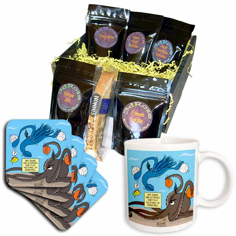 Why Squids and Octopuses Do Not Play Volleyball and Basketball Coffee Gift Basket