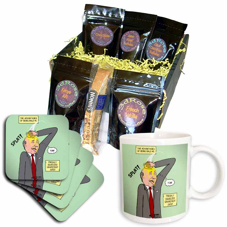 The Advantages of Being Bald No. 1 - Freshly Squeeze Grapefruit Juice Coffee Gift Basket
