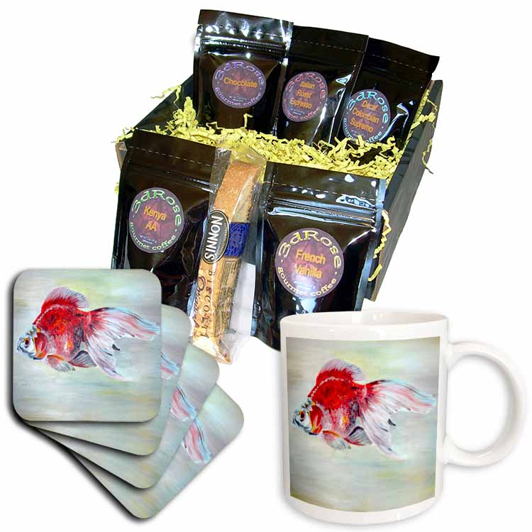 Fish Ryukin Goldfish Coffee Gift Basket
