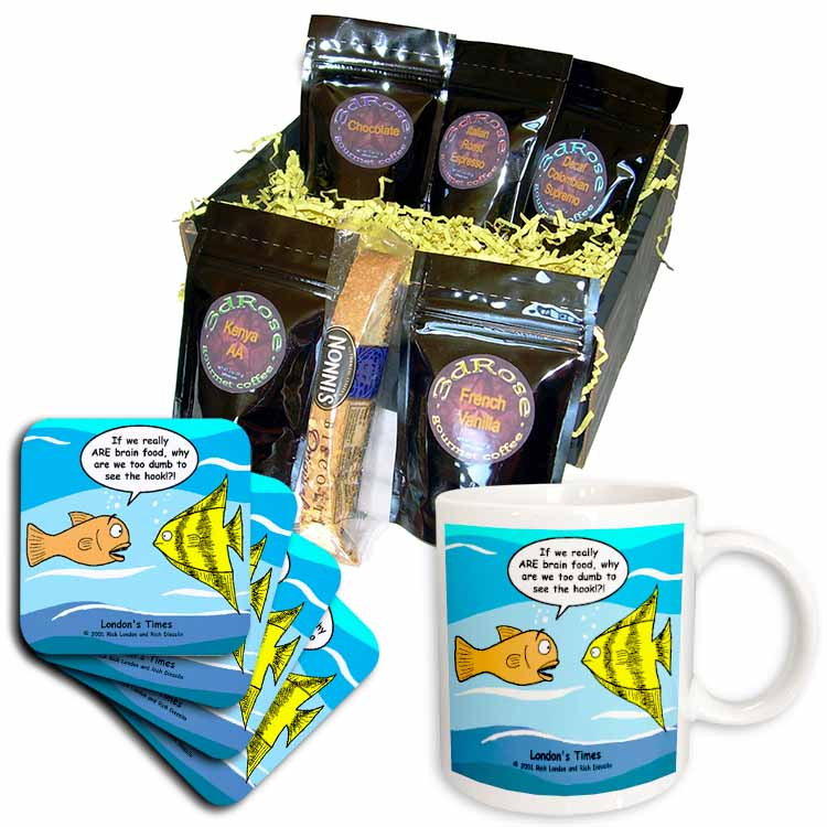Are Fish Really Brain Food Coffee Gift Basket