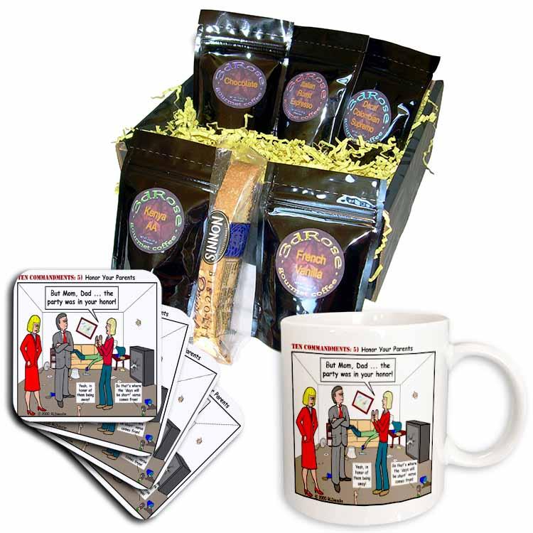 Ten Commandments 5 Honor Your Parents Coffee Gift Basket