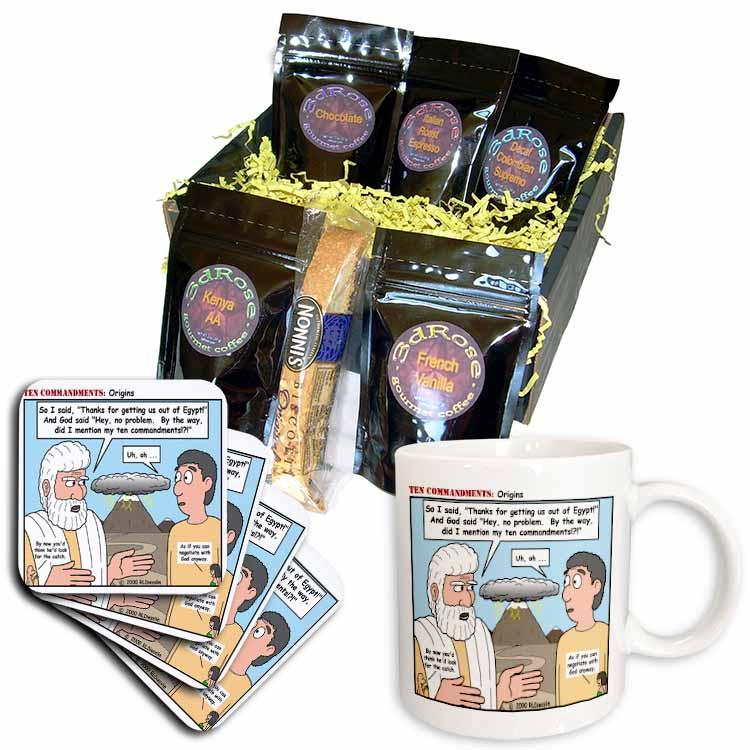 Ten Commandments, Origins Coffee Gift Basket