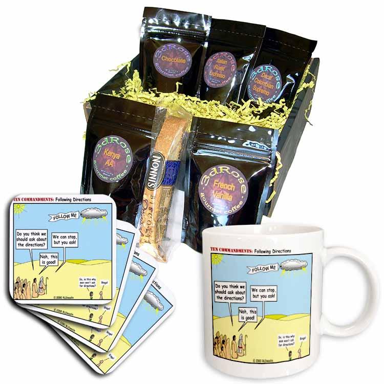 Ten Commandments, Following Directions Coffee Gift Basket