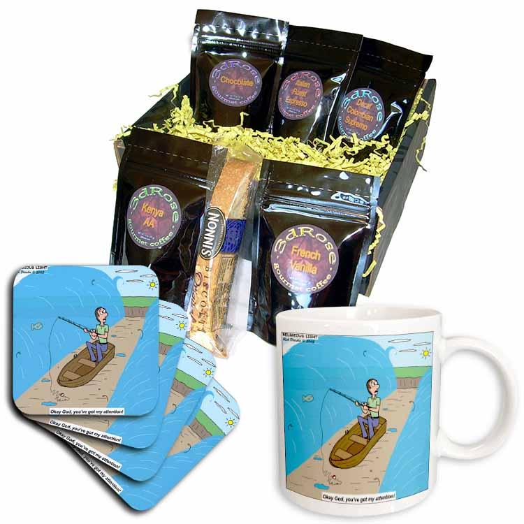 Fishing with God Coffee Gift Basket