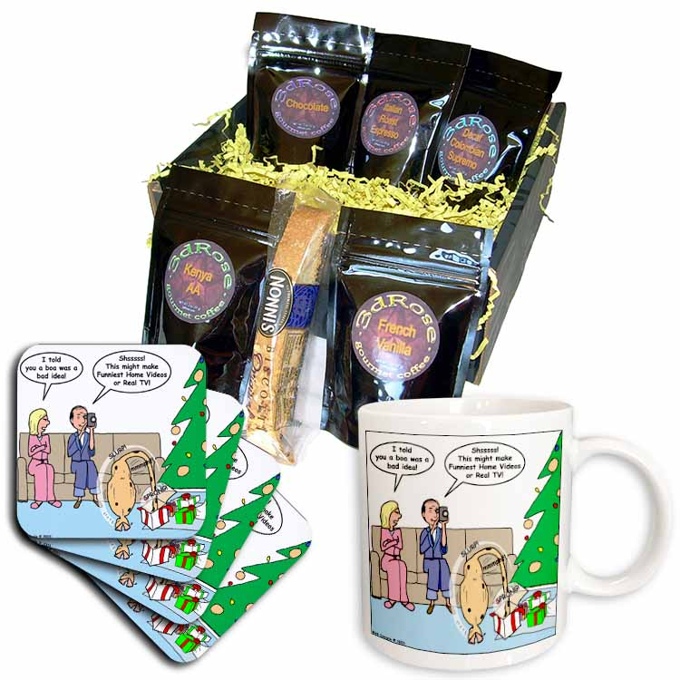 Bad Christmas Present Idea - Funniest Home Videos Coffee Gift Basket