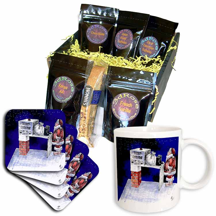 VAL - Santa Security Checkpoint Coffee Gift Basket