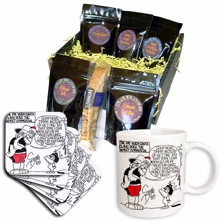 Sean Boley, Santa Goes Commercial  Coffee Gift Basket