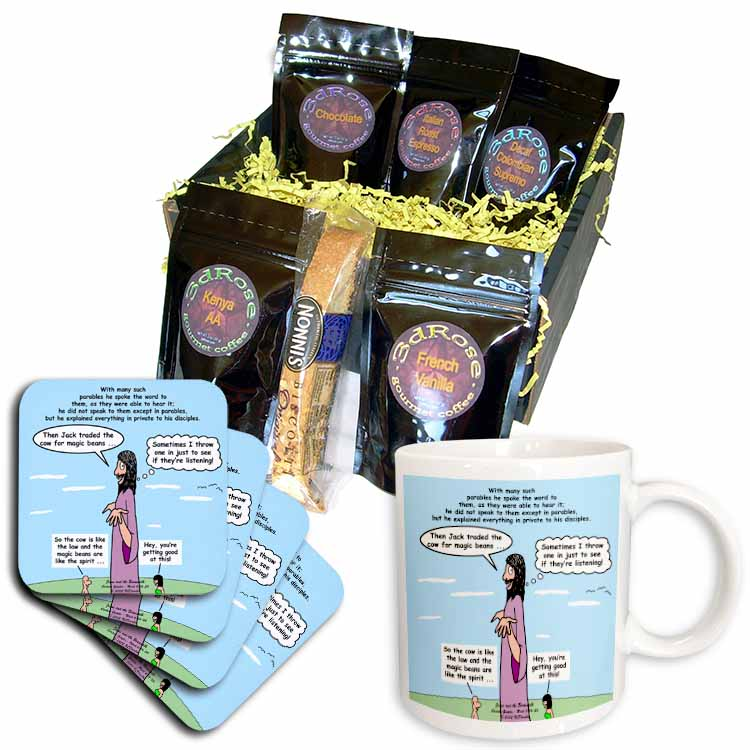 Mark 04-26-34 Jesus and the Beanstalk - Teaching Ad Lib Coffee Gift Basket