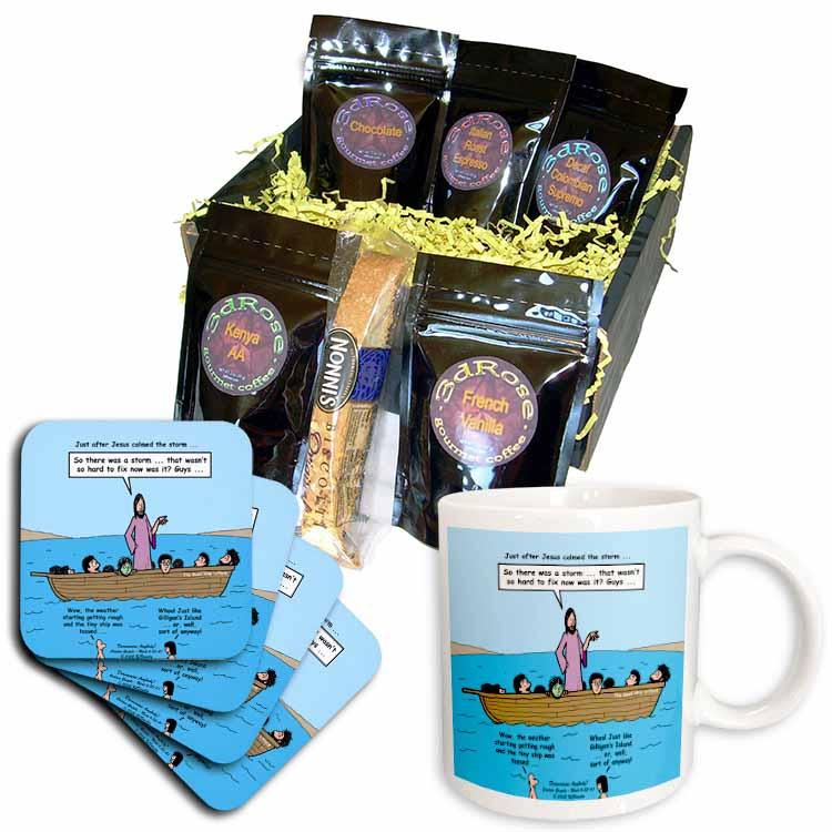 Mark 04-35-41 Dramamine Anybody - Calming of the Storm Coffee Gift Basket