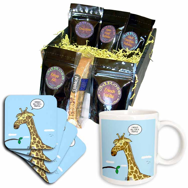Giraffe Foraging Foibles - wanting a truffle Coffee Gift Basket