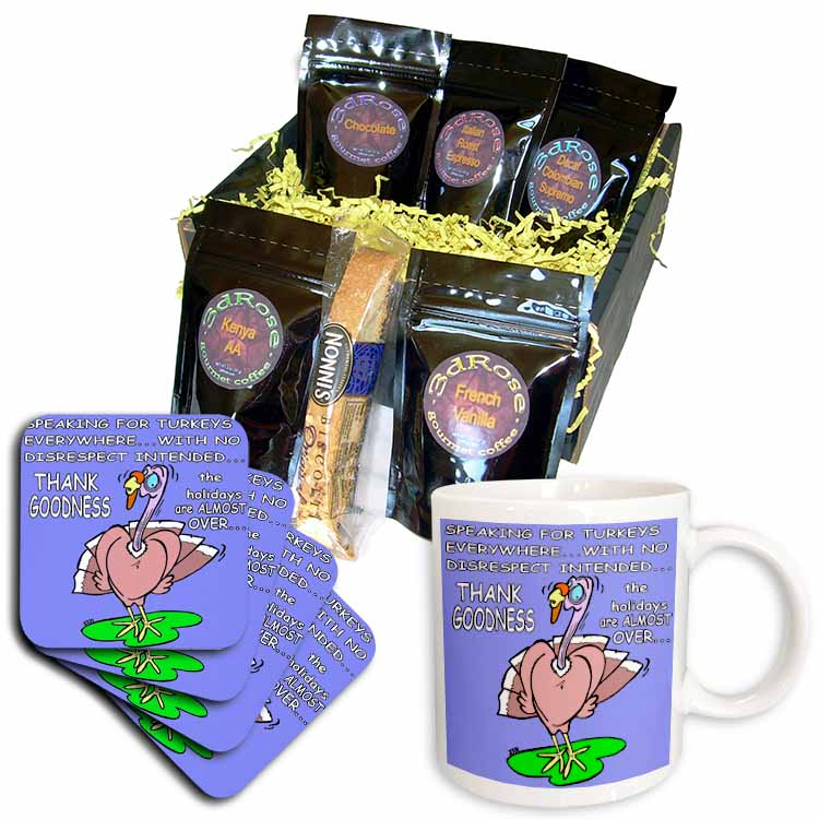 Ira Monroes Grateful Holiday Turkey Coffee Gift Basket