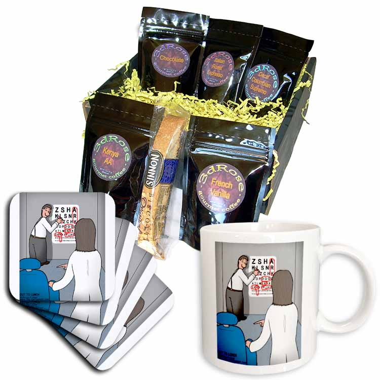 Eye Chart Word Search - Visit to the Eye Doctor Coffee Gift Basket